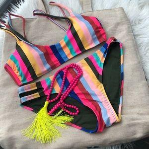 Striped bikini size medium 👙